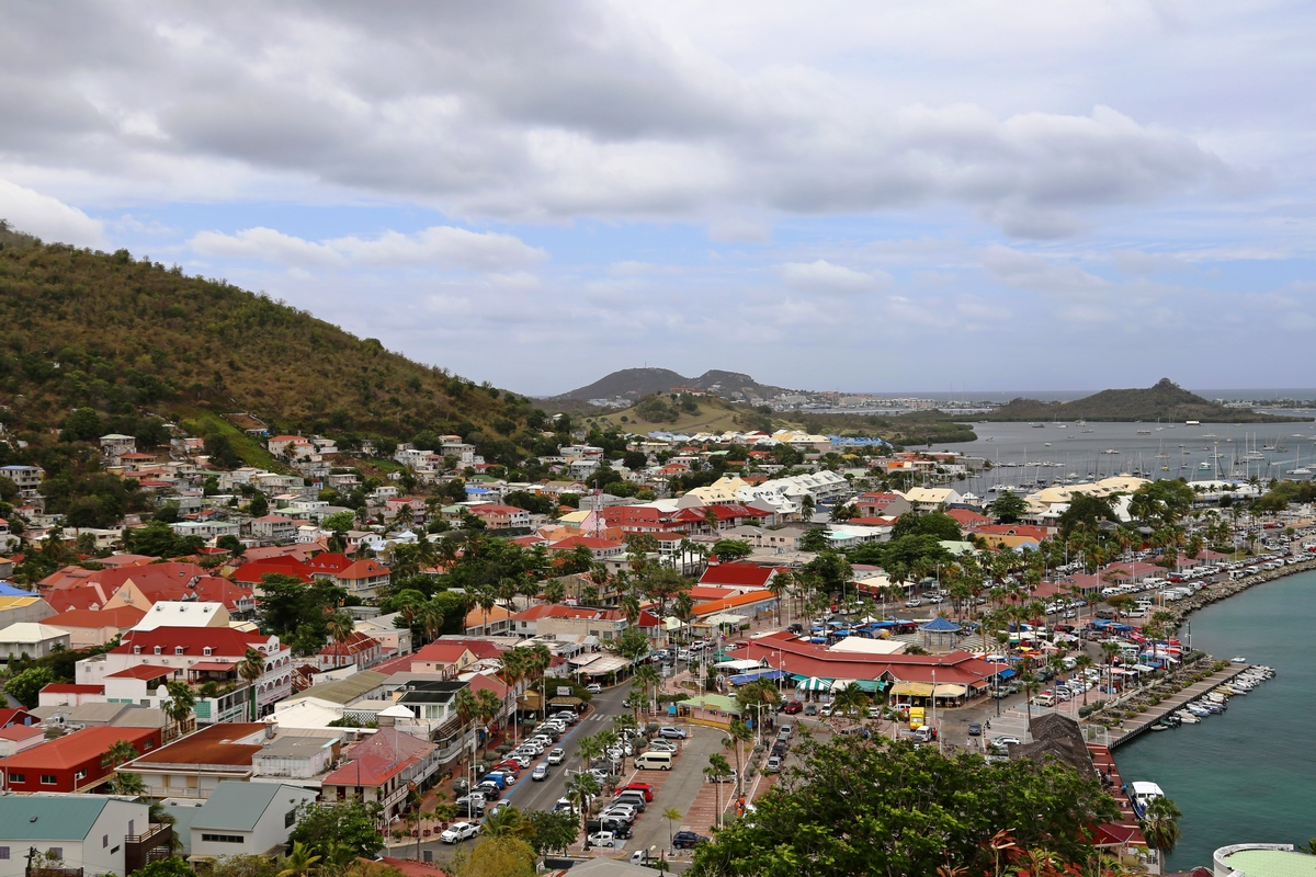 The colorful city of Marigot