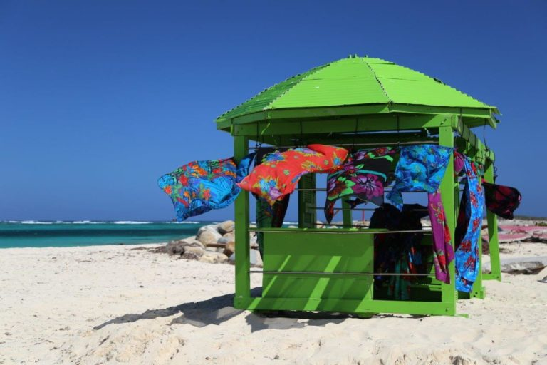 Louie rebuilt his colorful store after the hurricane