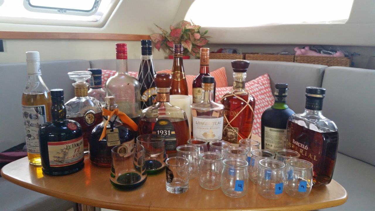 Rum tasting aboard s/v The Kraken