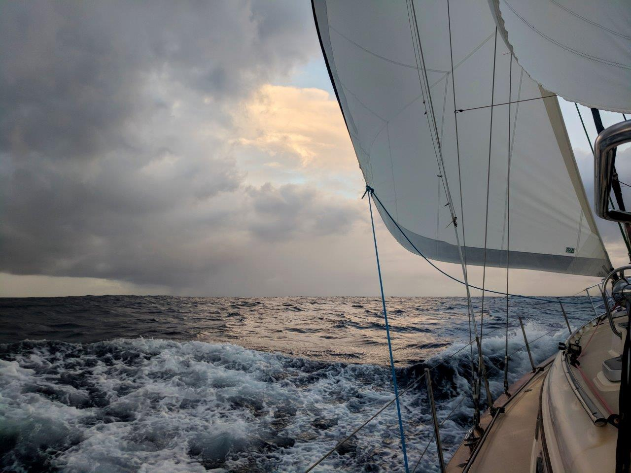 Not all sailing days are sunny