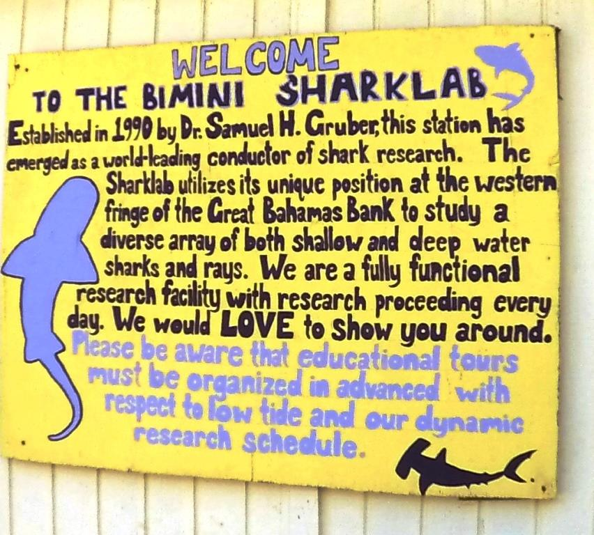 Shark Lab sign