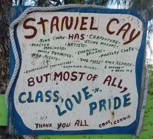 Staniel Cay sign