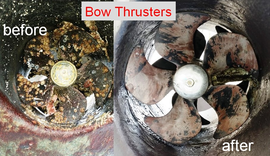 bow thrusters bef & aft