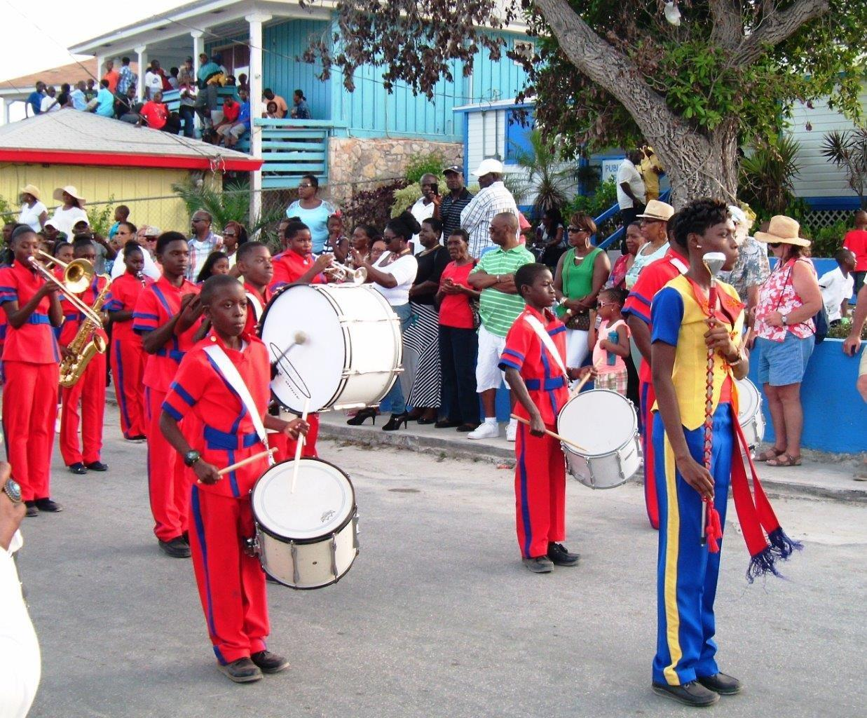 We were treated to a parade with marching bands. This one was from one of the local schools. I felt like I was back home in New Orleans!
