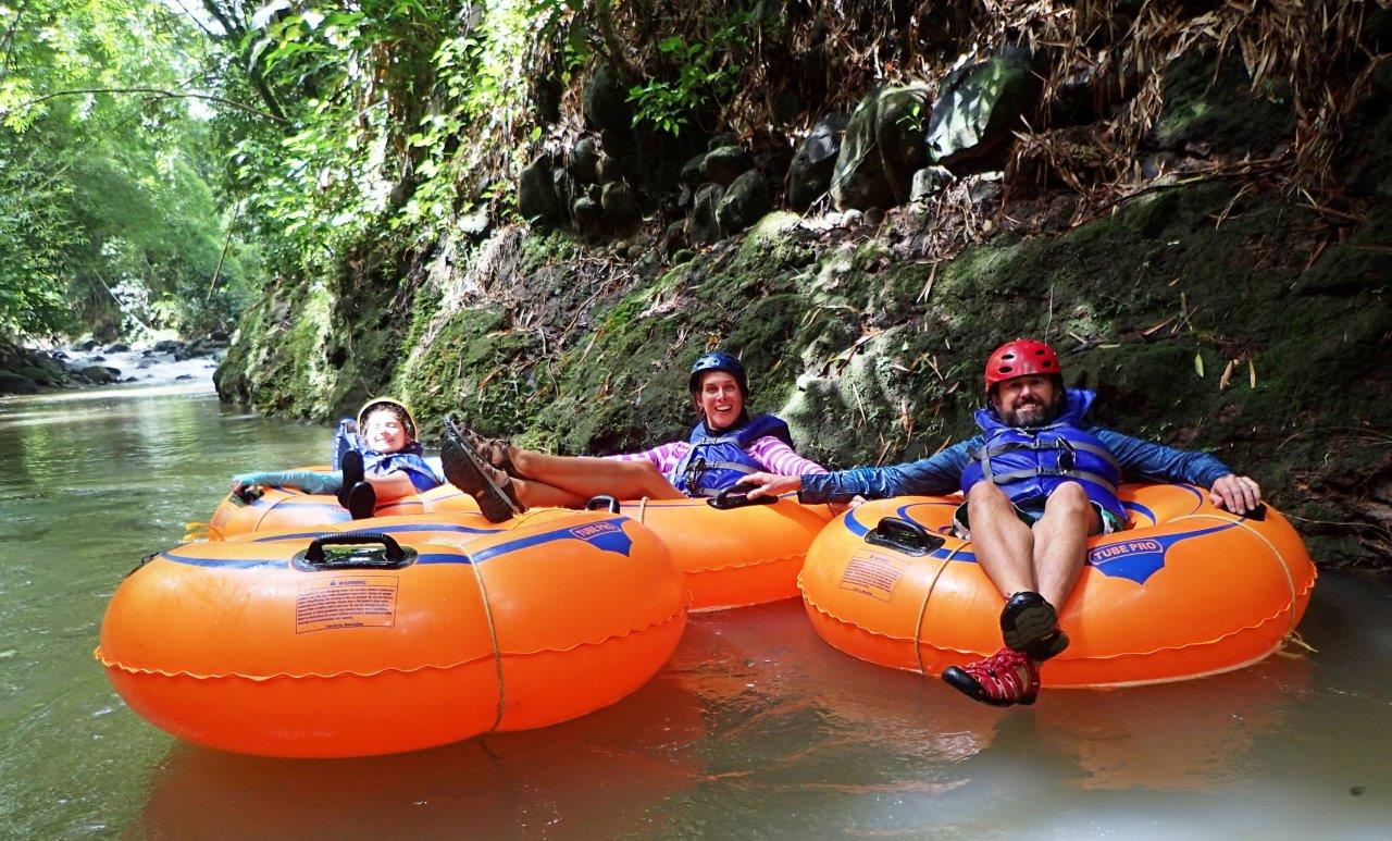 River rafting was fun after a heavy rain!