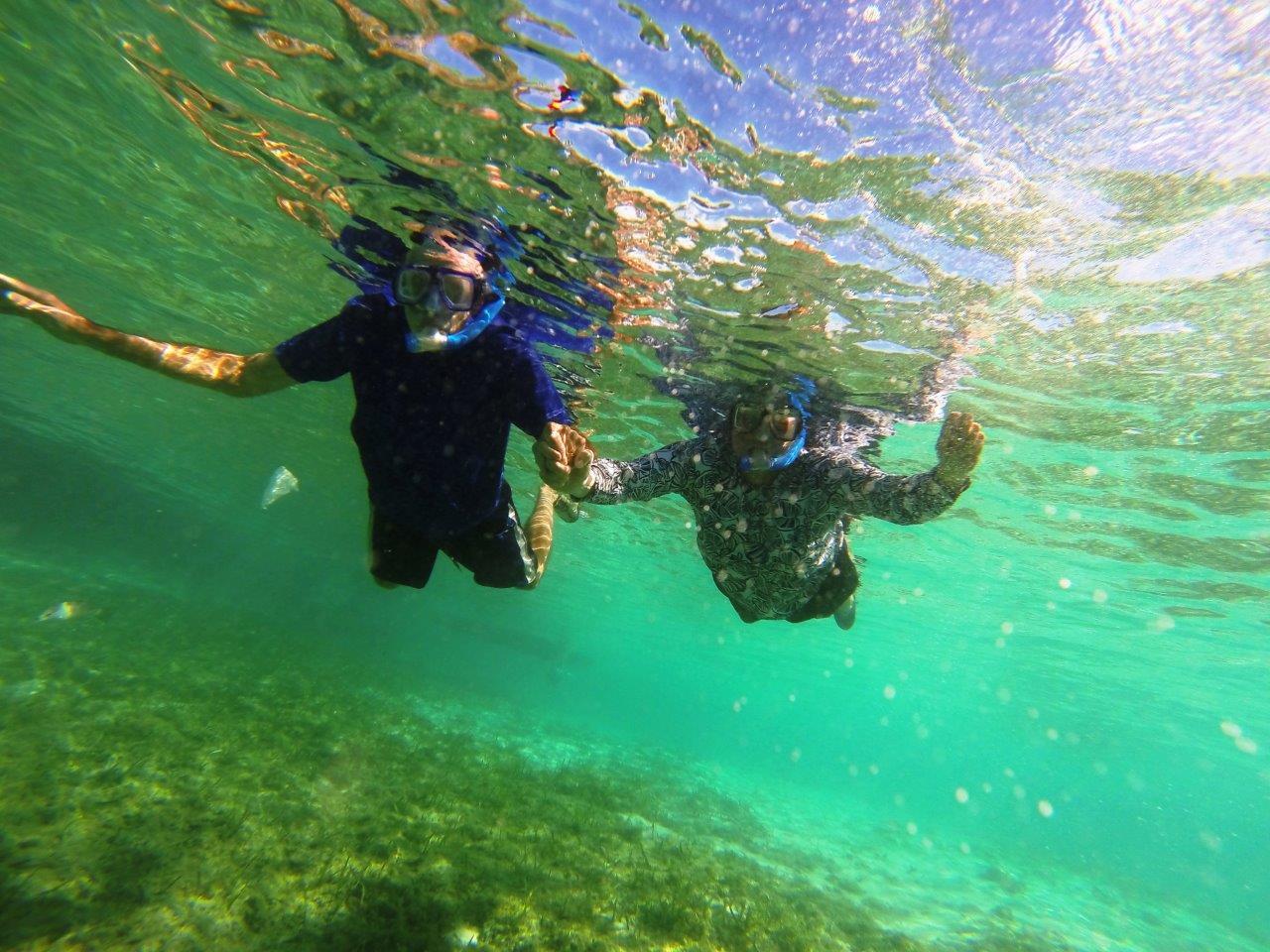 Enjoying some underwater scenery