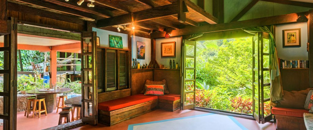 All spaces open up to lush gardens (Photo courtesy of Cocoa Cottages)