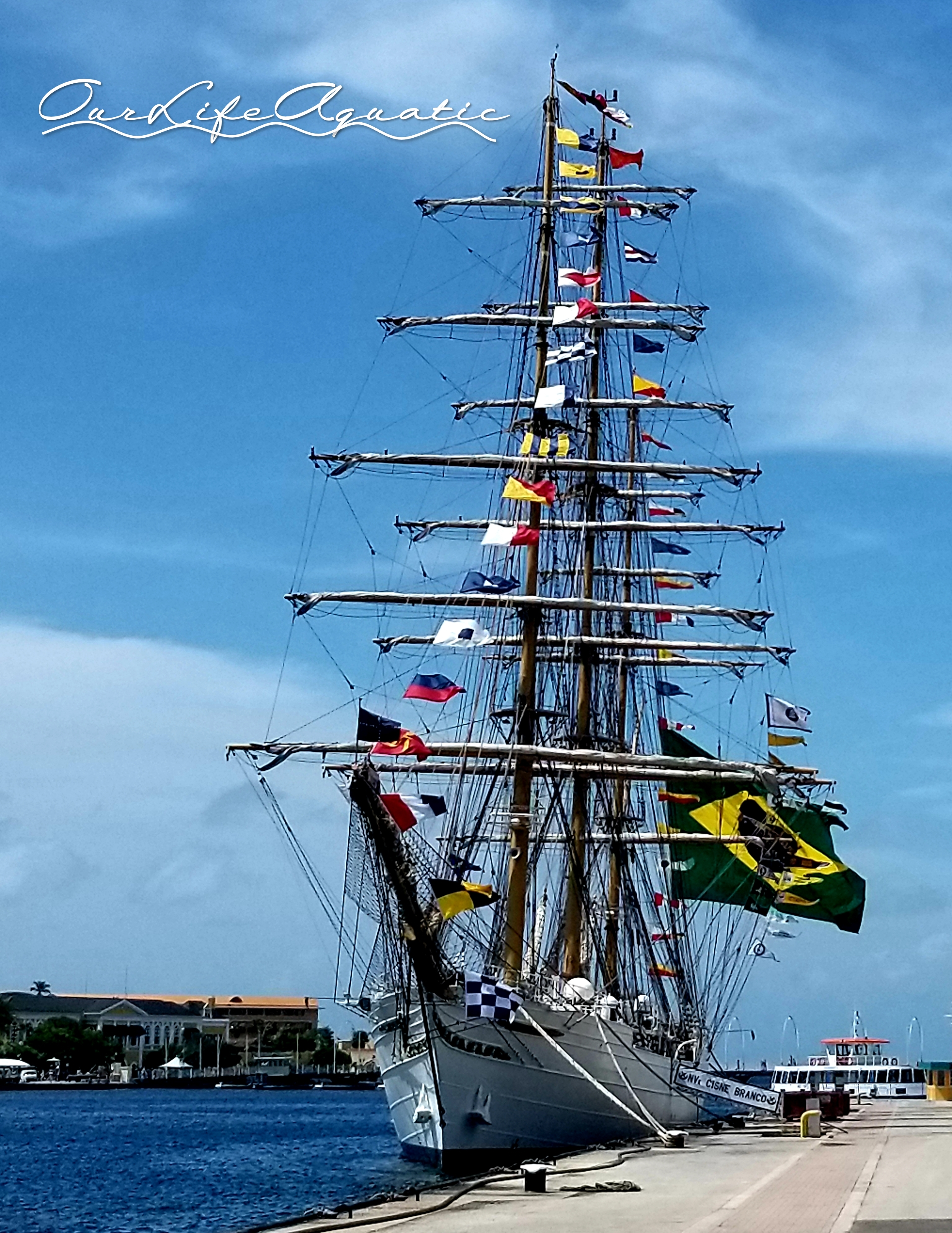 Not Blue In Curaao Our Life Aquatic Parts Of A Tall Ship For Pinterest This Brazilian Added To The Downtown Beauty Day We Checked Out